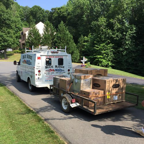 Blue Ridge Heating and Air Conditioning Work Truck